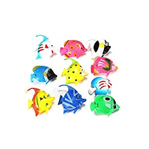 Tinksky 10pcs lifelike plastic artificial for Fake fish tank with moving fish