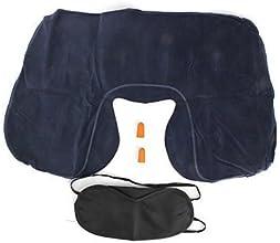 SJ - 3 in 1 Travel Kit Pillow Eyeshade and Earplugs