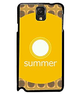 PRINTVISA Premium Metallic Insert Back Case Cover for Samsung Galaxy Note 3 - N7000 - D5663