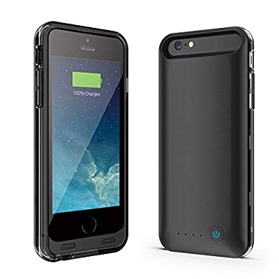 [Apple Mfi Certified] Niubity Iphone 6/6S Plus Battery Case[substituent Power Bank],[145% Extra Battery]li- Polymer External Removable Rechargeable Protective Charging Case with 4000mah Capacity [Fully Charge Within 2 Hours] Ultra Slim Extended for Iphone