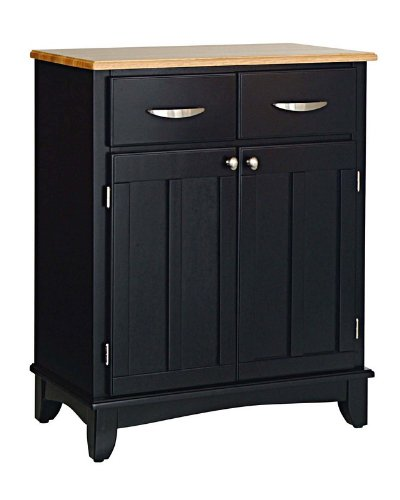 Cheap Server Sideboard with Natural Wood Top in Black Finish (VF_HY-5001-0041)
