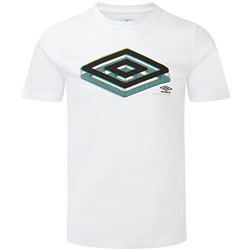 Umbro Da Uomo Basic Inghilterra calcio maniche corte maglietta White S