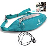 yoson.k Slim Fanny Pack for Women-Adjustable Waist Pack Waterproof with Headphone Jack-Lightweight Hip Bum Bag Anti Theft Great for Hiking,Running,Walking, Biking, Running, Travel, Jogging & More