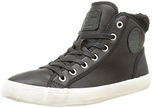 Pepe Jeans  Clinton Fleece Lined,  Sneaker donna Nero Noir (999Black) 36