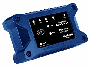 Einhell BT-BC 4 D Batterieladegerät, 1 A/4 A Ladestrom, LED-Anzeigen, Ladeautomatik, Fehlerdagnosesystem