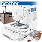 Brother LB-6800PRW Project Runway Computerized Sewing Embroidery Machine w/ USB Port and Grand Slam Package Includes 63 Embroidery Threads with Snap Spools + Prewound Bobbins + Cap Hoop + Stabilizer + 15