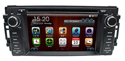 lsqSTAR 6.2 inch In-dash Single Din Car DVD Player for Dodge Avenger/caliber/Challenger/Dakota/Journey/Magnum/RAM Pickup Trucks(2009-2011)/RAM1500(2009-2011)/RAM2500(2009-2011)/RAM3500(2010- 2011) with dual zone PIP GPS BT AM/FM RDS Radio IPOD 3G Steering Wheel Car Stereo (Dvd Player For 2009 Dodge Journey compare prices)