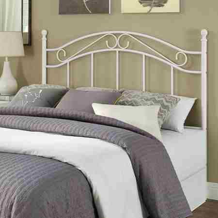 Mainstays Full/Queen Metal Headboard, Multiple Colors'white' (Headboard Full Metal compare prices)