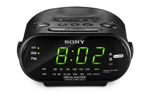 Sony Clock Radio Dual Alarm ICF-C318 Automatic Time Set Clock