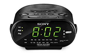 Sony ICF-C318 Clock Radio with Dual Alarm (Black)