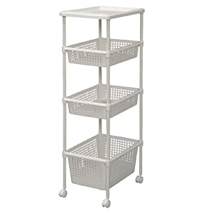 Amazon IRIS Kitchen Laundry Cart w Wheels MKW 4W1D
