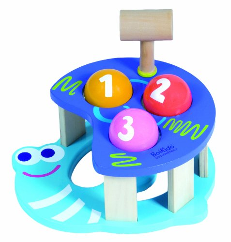 Boikido Eco-Friendly Wooden Hammer Game Snail