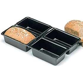 Home kitchen kitchen dining bakeware bread for Norpro 3 piece canape bread mold set