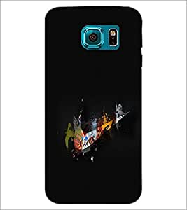 PrintDhaba Abstract Design D-2350 Back Case Cover for SAMSUNG GALAXY S6 EDGE (Multi-Coloured)