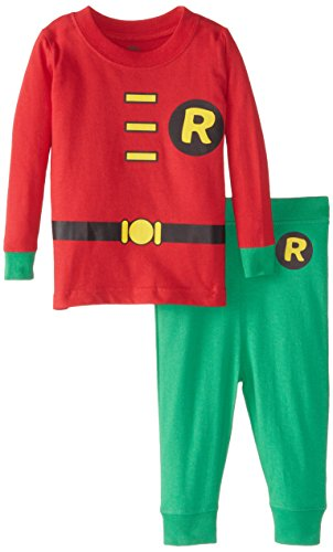 DC Comics Baby Boys' Robin 2 Piece Cotton Infant