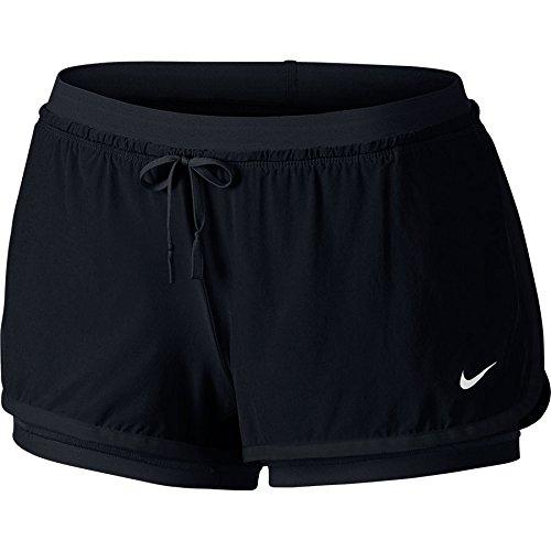 New Nike Women's Full Flex 2-in-1 Shorts Black/Black/White X-Large