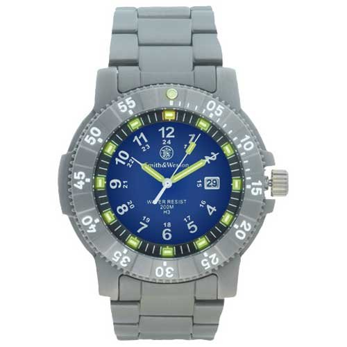 Smith & Wesson SWW-357-T-BLU Executive Watch Tritium 45mm Titanium Blue Dial