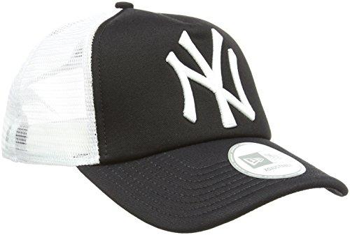 New Era - MLB  Trucker NY Yankees, Baseball beretto da uomo, nero (black), unica (Taglia produttore: unica)