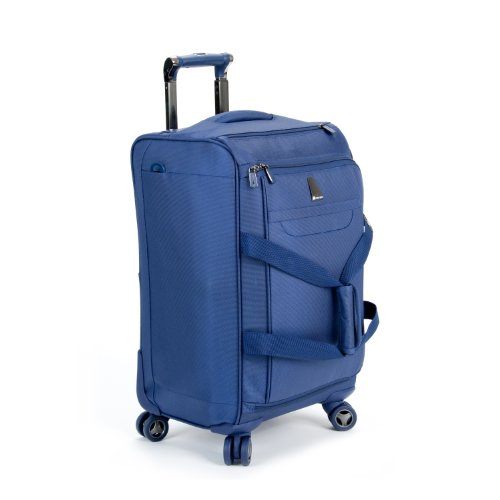 reviews delsey luggage helium x pert lite ultra light carry on 4 wheel spinner duffel blue 20. Black Bedroom Furniture Sets. Home Design Ideas