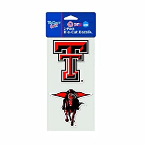 Buy NCAA Texas Tech Red Raiders 4-by-8 Die Cut Decal by WinCraft