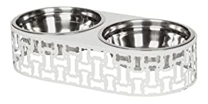 Unleashed Life Simon Double Feeder for Pets, Large