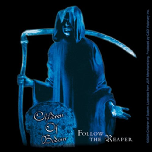 Licenses Products Children of Bodom Reaper Sticker, Blue
