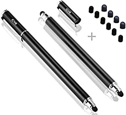 Bargains Depot (Black & Pink) -- 2 pcs (2 in 1 Bundle Combo Pack) SILM / ACCURATE / FINE POINT / THINNER BARREL Capacitive Stylus/styli Universal Touch Screen Pen for Tablet PC Computer : Lenovo Ideapad A1 22282MU 7 Inch Tablet, Lenovo Ideapad K1 130422U