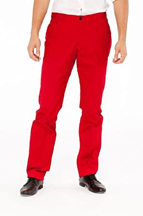 Emporio Armani Red Cotton Pants Trousers, 58, Red