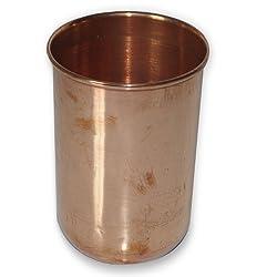 Pure Copper Tumbler Glass Drinkware Asian Kitchen Accessory