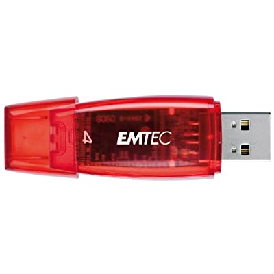 EMTEC C400 Candy II Series 4 GB USB 2.0 Flash Drive (Red)