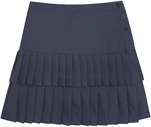 French Toast School Uniforms Double Pleated Scooter Girls Navy 12 front-465382