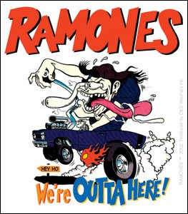 Licenses Products The Ramones Outta Here Sticker - 1