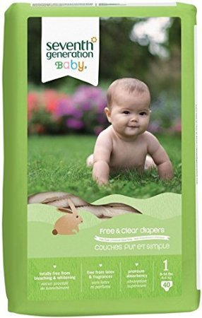 Seventh Generation 7 Gen Diapers Stage 1 40.00 CT(Pack of 4) (7th Generation Stage 4 Diapers compare prices)