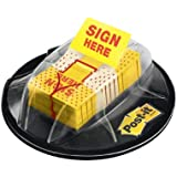 "Post-it Flags, ""Sign Here"", Yellow, 1-Inch Wide, 200/Dispenser (680-HVSH)"