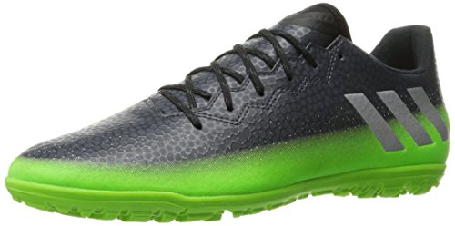 adidas Performance Men's Messi 16.3 Tf Soccer Shoe, Dark Grey/Metallic Silver/Neon Green, 10 M US (Neon Green Football Cleats compare prices)