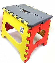 DLUX EZ Foldz Step Stool Medium, , HxWxD is 27x29x22cm (11.25 x 12.08 x 9.17\