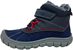 OshKosh B\'Gosh Marley2 Backpacking Boots (Toddler/Little Kid) (11 M US Little Kid, Navy/Red with Velcro Strap)