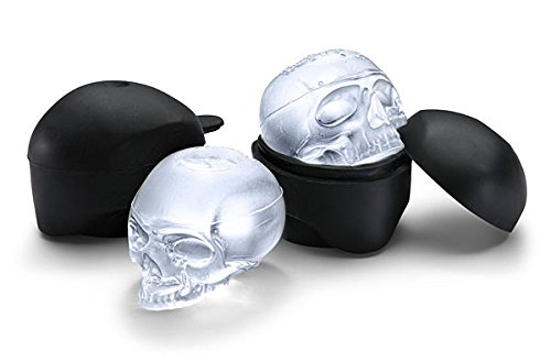 Think Geek! Makes 2 Ice Skull Molds