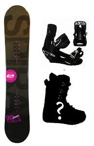 Buy 154cm TwoBOne Spiral-Black W-Camber Mens Snowboard, Boots, Bindings Package or Deck, U Build It by TwoBOne