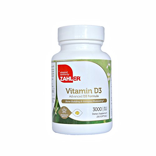 Zahler Vitamin D3 (Cholecalciferol) 3000IU, An All-Natural Supplement Supporting Bone Muscle Teeth and Immune System , #1 Best Top Quality Vitamin D3 with High Absorption, Advanced Formula Targeting Vitamin D Deficiencies, Certified Kosher, 250 Softgels (Vitamin D 3000 compare prices)