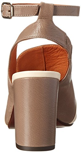 Chie Mihara Women's Lari A Dress Sandal, Leche/Stone, 38.5 EU/8.5 M US