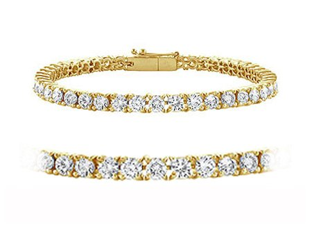 1.30cttw Natural White Round Diamond (VS-Clarity,E-F-Color) Tennis Bracelet in 18k Yellow Gold.