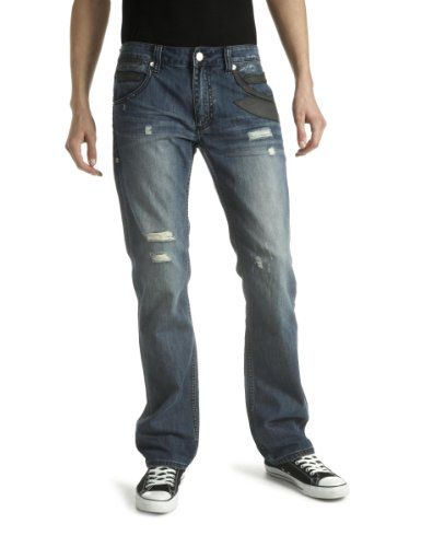 Antik Denim Men's Straight Jeans Light Blue 31W x 34L