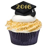 Class of 2016 Graduation Cupcake Topper Rings – 24 pc