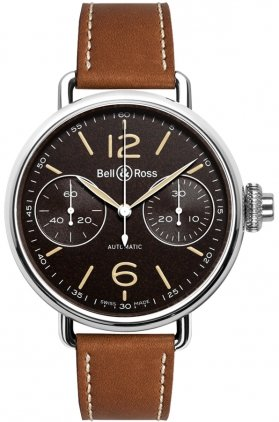 NEW BELL & ROSS WW1 VINTAGE MENS WATCH WW1-CHRONOGRAPH-MONOPOUSSOIR-HERITAGE