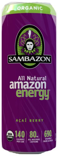 SAMBAZON Organic Amazon Energy Drink, 12oz