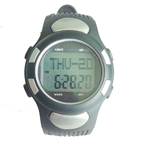 Grand Index Pulse Heart Rate Monitor Calories Counter Fitness Women & Men Sports Watch Xld008 (Silver) front-159941