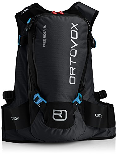 Ortovox Lawinenrucksack Free Rider 18, black anthracite, 55 x 27 x 20 cm, 26 litres, 4674200001