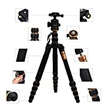 Q666C-Professional-Compact-Carbon-Tripod-monopod-with-Ballhead-Quick-Release-Portable-Traveling-Tripod-for-DSLR-Camera-Canon-Nikon-PentaxLoad-up-to-33-lbs