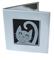 Black Kitty Cat Mirror Compact